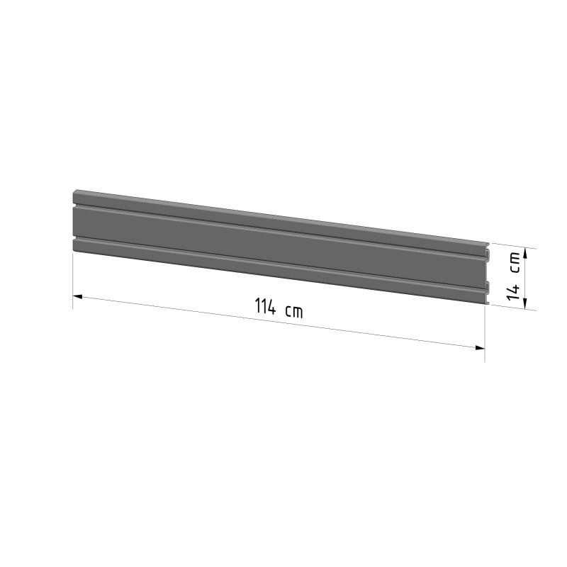 MINI Nosný panel nástěnného úložného systému 3wall® délky 114cm